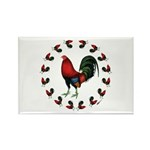 Rooster Circle Rectangle Magnet (10 pack)