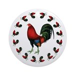 Rooster Circle Ornament (Round)