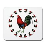 Rooster Circle Mousepad