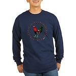 Rooster Circle Long Sleeve Dark T-Shirt