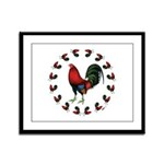 Rooster Circle Framed Panel Print