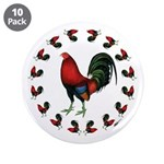 """Rooster Circle 3.5"""" Button (10 pack)"""