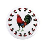 """Rooster Circle 3.5"""" Button"""
