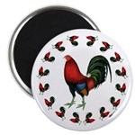 """Rooster Circle 2.25"""" Magnet (10 pack)"""