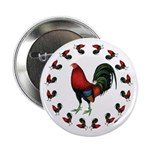 """Rooster Circle 2.25"""" Button (100 pack)"""