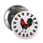 """Rooster Circle 2.25"""" Button"""