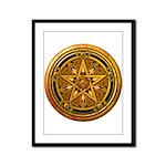 Gold Pagan Pentacle Framed Panel Print
