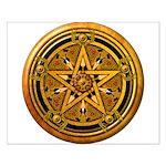 Gold Pagan Pentacle Small Poster