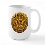 Gold Pagan Pentacle Large Mug