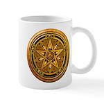 Gold Pagan Pentacle Mug