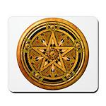 Gold Pagan Pentacle Mousepad