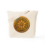 Gold Pagan Pentacle Tote Bag
