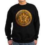 Gold Pagan Pentacle Sweatshirt (dark)