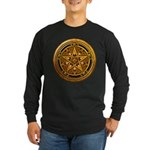 Gold Pagan Pentacle Long Sleeve Dark T-Shirt