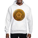 Gold Pagan Pentacle Hooded Sweatshirt