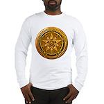 Gold Pagan Pentacle Long Sleeve T-Shirt