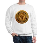 Gold Pagan Pentacle Sweatshirt