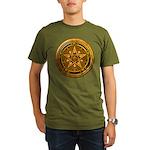 Gold Pagan Pentacle Organic Men's T-Shirt (dark)