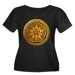 Gold Pagan Pentacle Women's Plus Size Scoop Neck D