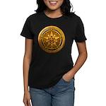 Gold Pagan Pentacle Women's Dark T-Shirt