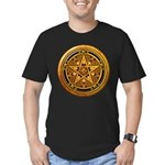 Gold Pagan Pentacle Men's Fitted T-Shirt (dark)