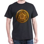 Gold Pagan Pentacle Dark T-Shirt