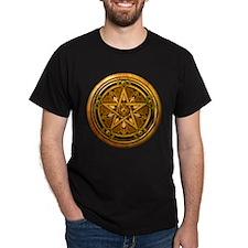 Gold Pagan Pentacle T-Shirt