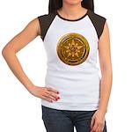 Gold Pagan Pentacle Women's Cap Sleeve T-Shirt