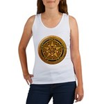 Gold Pagan Pentacle Women's Tank Top