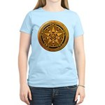 Gold Pagan Pentacle Women's Light T-Shirt