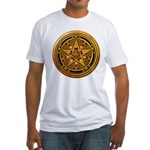 Gold Pagan Pentacle Fitted T-Shirt