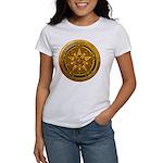 Gold Pagan Pentacle Women's T-Shirt