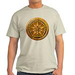 Gold Pagan Pentacle Light T-Shirt