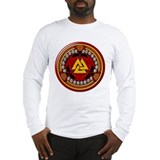 Red Viking Runes Long Sleeve T-Shirt