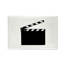 Movie - clapperboard Rectangle Magnet (100 pack)