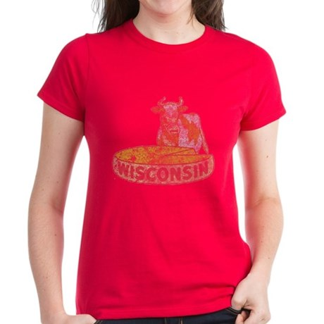 Wisconsin Cow and Cheese Women's Dark T-Shirt