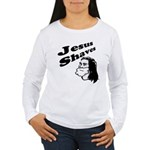 Jesus Shaves Women's Long Sleeve T-Shirt