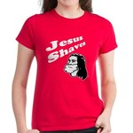 Jesus Shaves Women's Dark T-Shirt