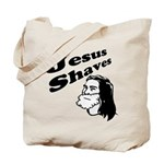Jesus Shaves Tote Bag