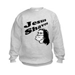 Jesus Shaves Kids Sweatshirt