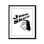 Jesus Shaves Framed Panel Print