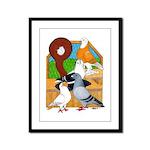 Five Pigeons Framed Panel Print