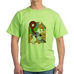Five Pigeons Green T-Shirt