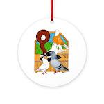 Five Pigeons Ornament (Round)