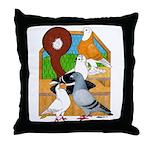 Five Pigeons Throw Pillow