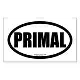 Primal auto decal health fitness Sticker (Rectangl