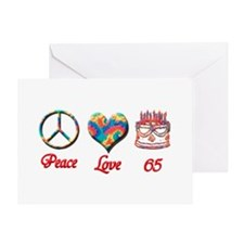 Cute Peace love birthday Greeting Card
