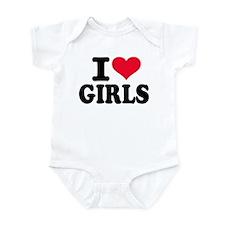 I love girls Infant Bodysuit