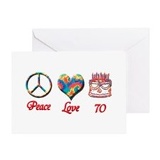 Unique Peace love birthday Greeting Card