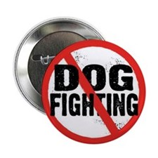 "Cute Dog fighting 2.25"" Button (100 pack)"
